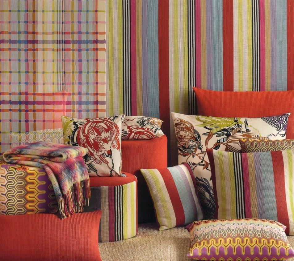Tessuti missoni per divani poltrone in tessuto missoni - Tessuti per divani moderni ...